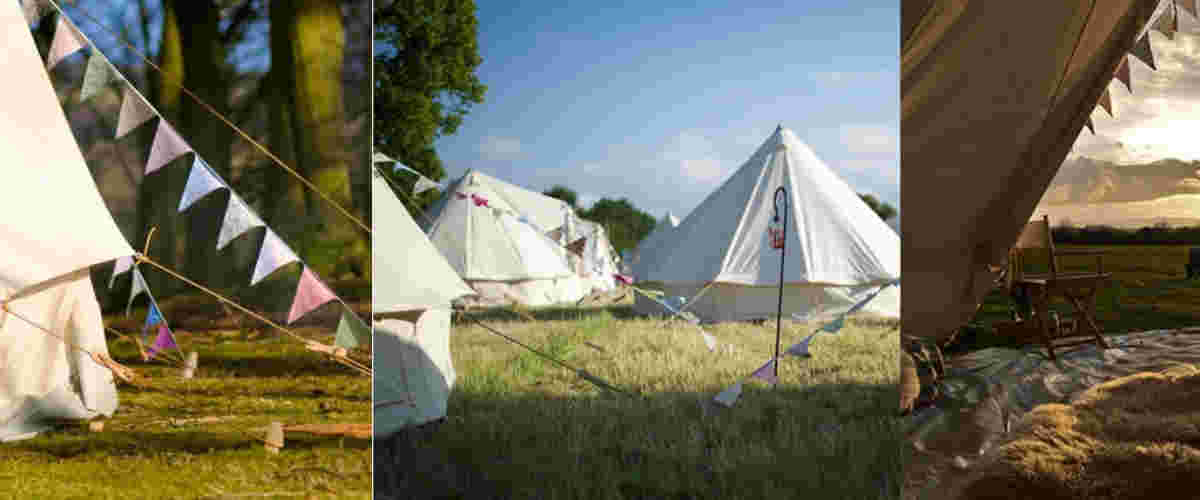 Bell tents.