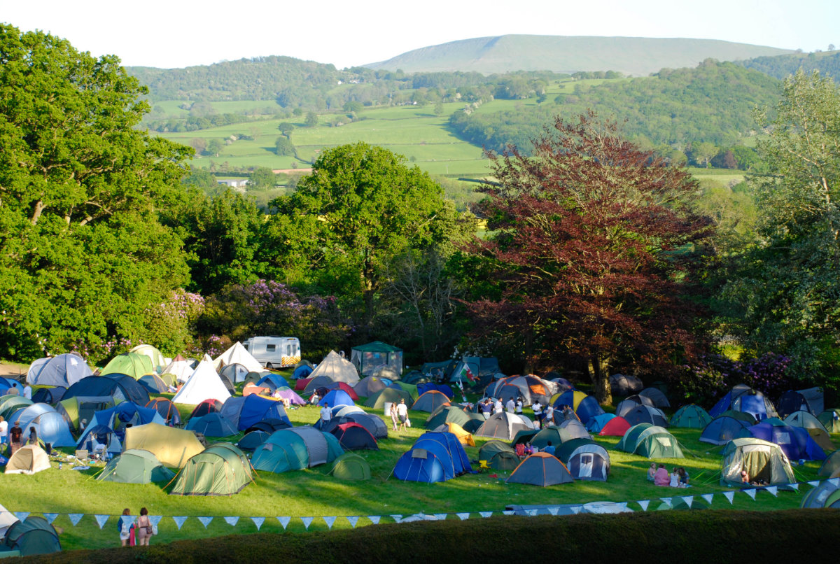 Campsite at Big Love Festival.