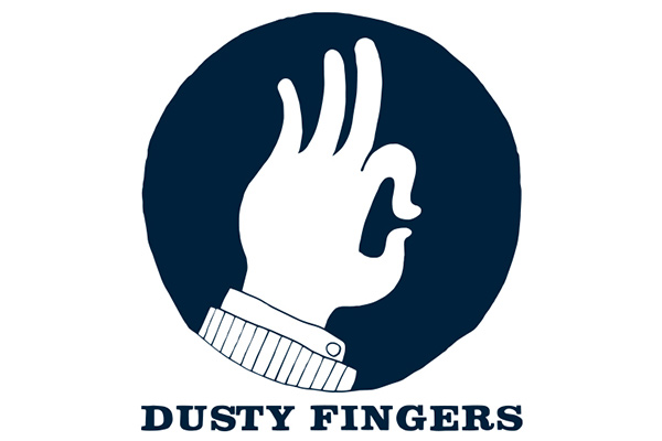 Dusty Fingers Cardiff logo.